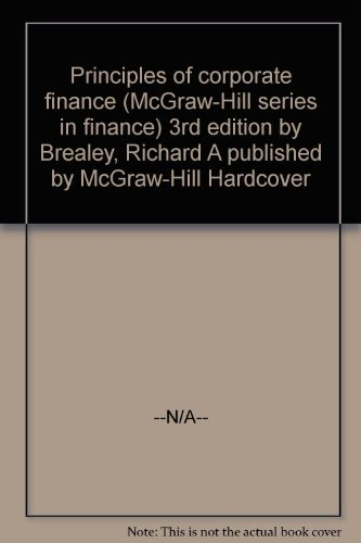 9780070073869: Principles of Corporate Finance (The McGraw-Hill Series in Finance)