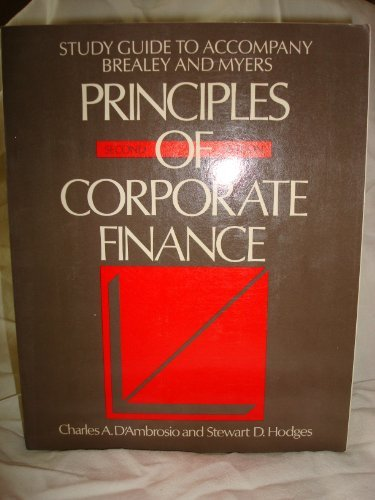 9780070073883: Study Guide to Accompany Brealey and Myers Principles of Corporate Finance
