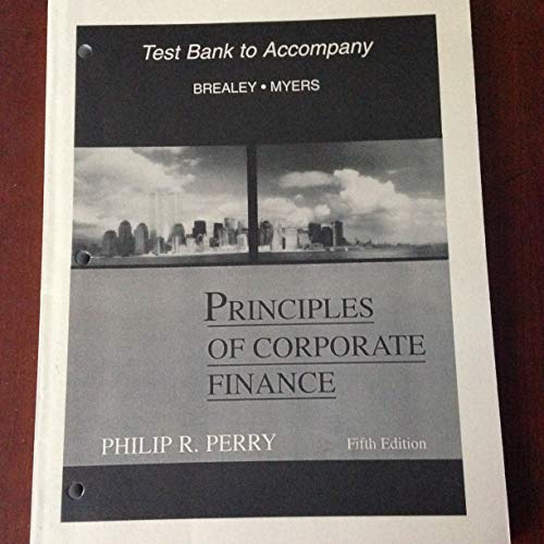 9780070074194: Principles of Corporate Finance: Test Bank