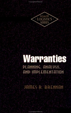 9780070075672: Warranties: Planning, Analysis, and Implementation