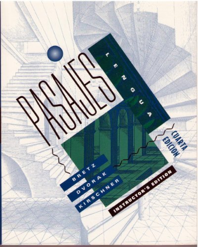 9780070077041: Pasajes, Instructor's Edition