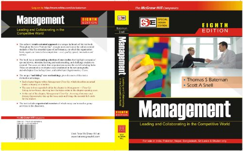 Management: Leading and Collaborating in the Competitive World (SIE), Eight Edition: Scott Snell,...