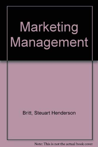 9780070079212: Marketing Management
