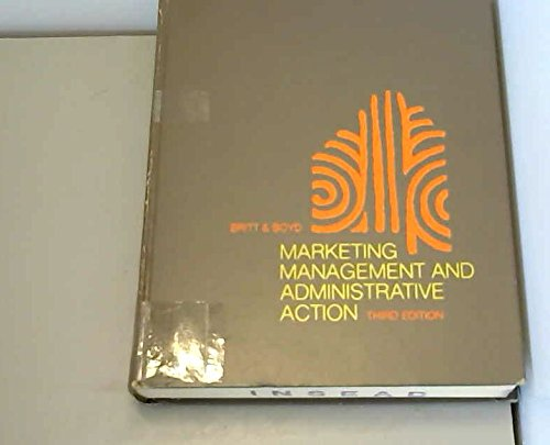 9780070079229: Marketing management and administrative action