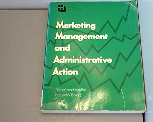 9780070079236: Marketing Management and Administrative Action (McGraw-Hill series in marketing)