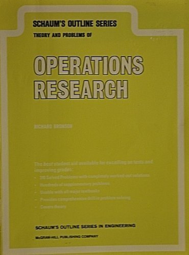 9780070079779: Schaum's Outline of Theory and Problems of Operations Research