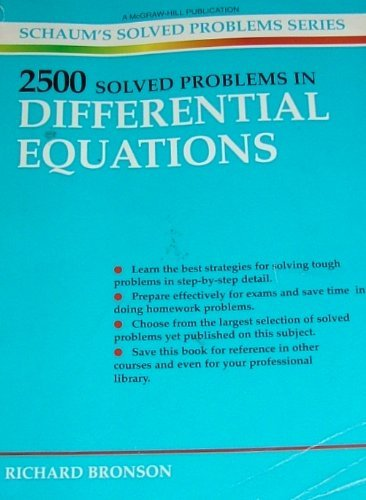 9780070079793: 2500 Solved Problems in Differential Equations (Schaum's Solved Problems Series)