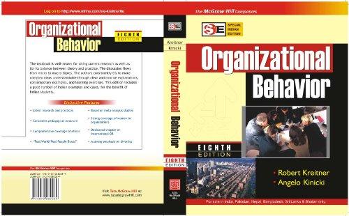 Organizational Behavior, Eighth (8th) Edition [Special Indian: Kreitner, Angelo Kinicki