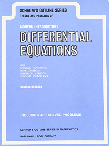 9780070080096: Schaum's Outline of Theory and Problems of Modern Introductory Differential Equations (Schaum's Outline Series)