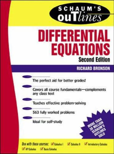 9780070080195: Schaum's Outline of Theory and Problems of Differential Equations