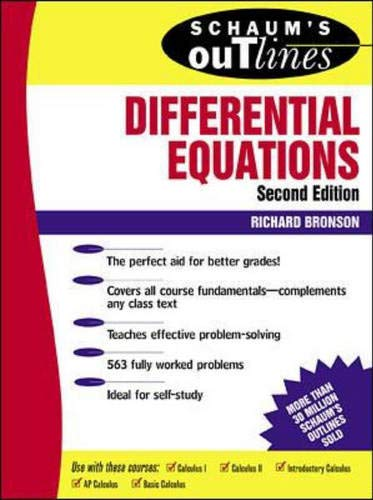 9780070080195: Schaum's Outline of Differential Equations