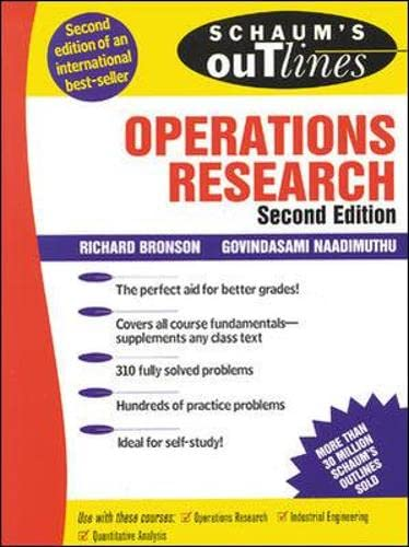 9780070080201: Schaum's Outline of Operations Research