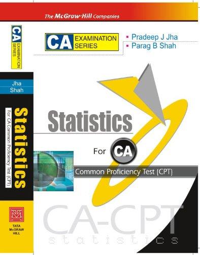 Quantative Aptitude Statistics (for CA-CPT): Parag B. Shah,Pradeep