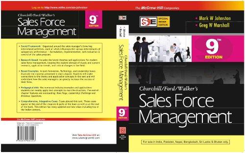 9780070080553: Sales Force Management (Sie) 9E