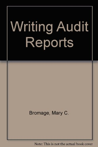 9780070080607: Writing Audit Reports