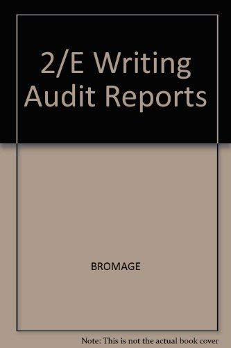 9780070080645: 2/E Writing Audit Reports