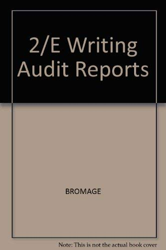 9780070080645: Writing audit reports