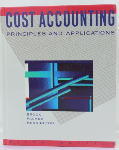 9780070081529: Cost Accounting: Principles and Applications