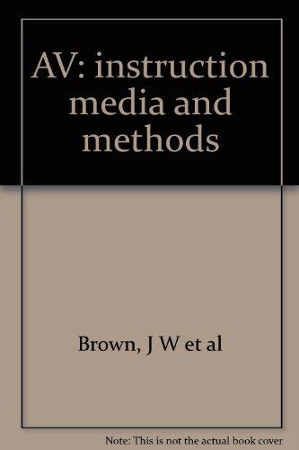9780070081550: AV instruction: media and methods