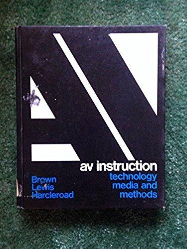 9780070081604: Audiovisual Instruction: Media and Methods