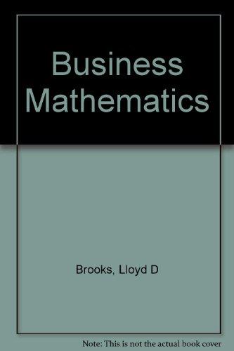 9780070081666: Business Mathematics