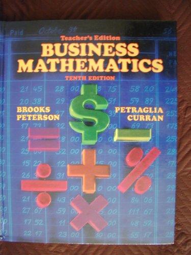 9780070081673: Teacher's Edition: TE Business Mathematics