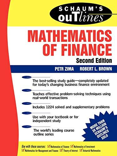 9780070082038: Schaum's Outline of  Mathematics of Finance (Schaum's Outline Series)