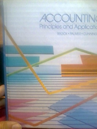9780070082601: Accounting: Principles and Applications