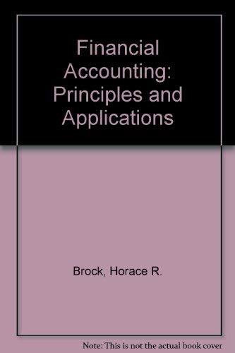 9780070082618: Financial Accounting: Principles and Applications