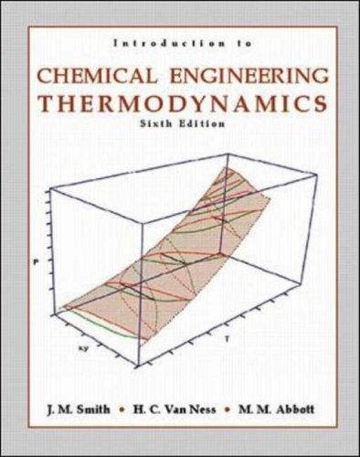 9780070083042: Introduction to Chemical Engineering Thermodynamics