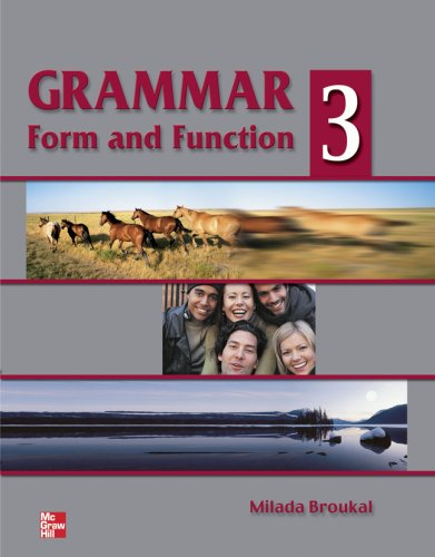 9780070083134: Grammar Form and Function - Book 3 (High Intermediate) - Student Book: Student Book Bk. 3