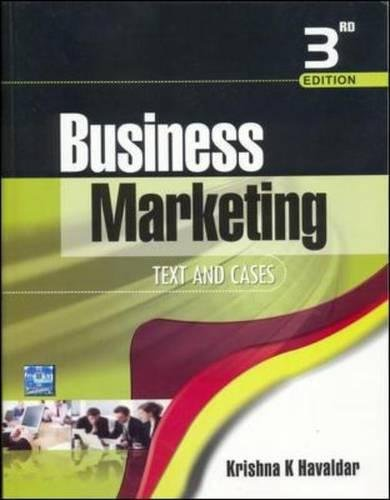 9780070083257: Business Marketing: Text & Cases
