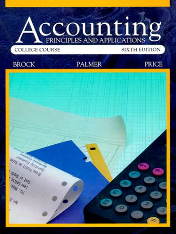 9780070087361: Accounting: Principles and Applications
