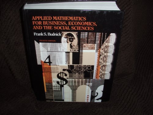 9780070089020: Applied Mathematics for the Business, Economics and Social Sciences
