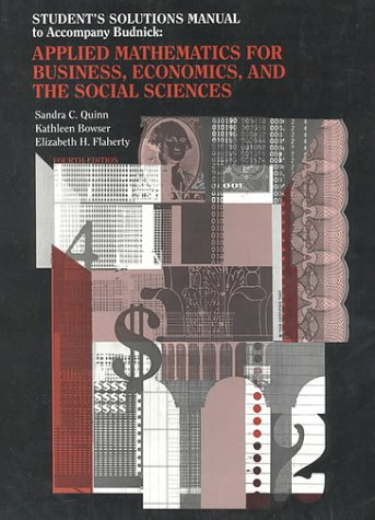 9780070089044: Budnick's Applied Mathematics for Business, Economics and Social Sciences