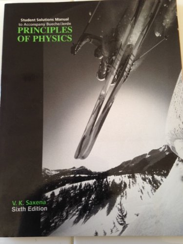 9780070089495: Principles of Physics: Student Solutions Manual
