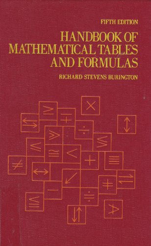 9780070090156: Handbook of Mathematical Tables and Formulas