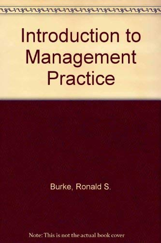 9780070090422: Introduction to Management Practice