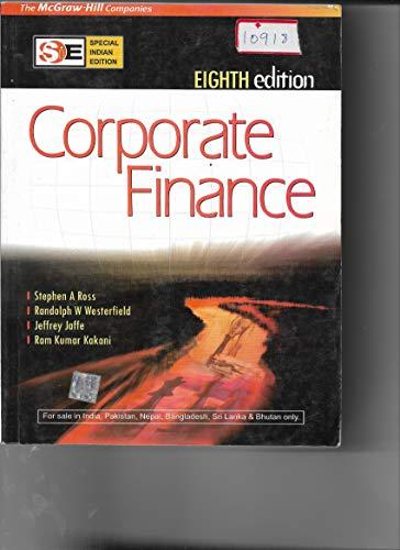 9780070091245: Corporate Finance (International Edition) Edition: Eighth