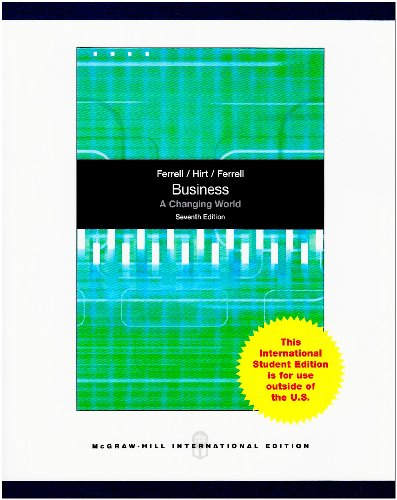 9780070091665: Business: A Changing World
