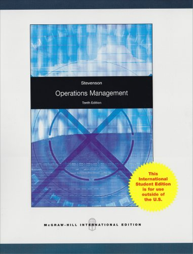 Operations Management (McGraw-Hill/Irwin Series Operations and Decision Sciences) (0070091773) by William J. Stevenson
