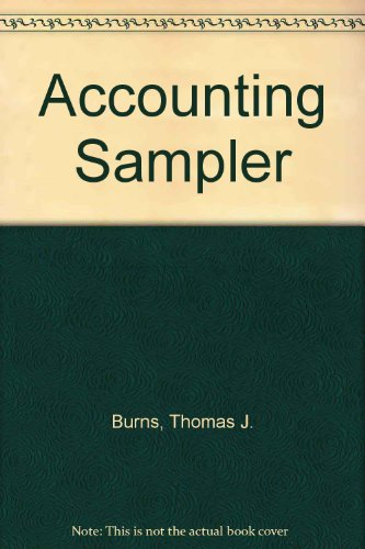 9780070092068: Accounting Sampler
