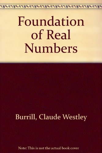 9780070092242: Foundation of Real Numbers