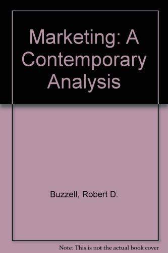 9780070094772: Marketing: A Contemporary Analysis