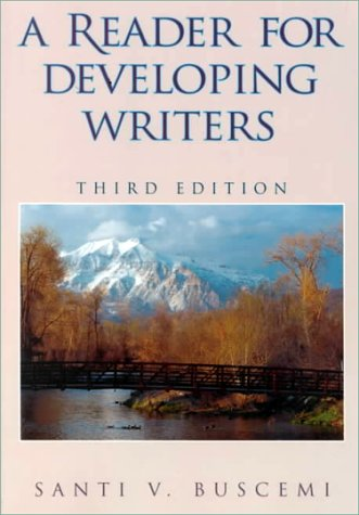 9780070094840: A Reader for Developing Writers