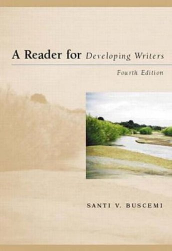 9780070094901: Reader for Developing Writers