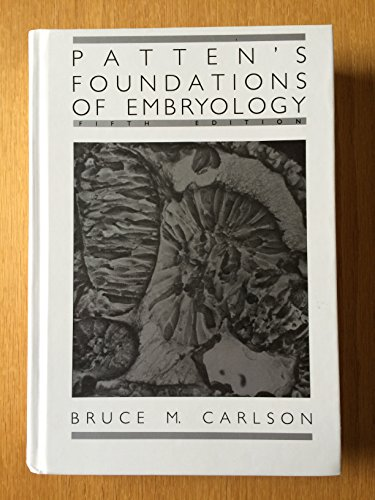 9780070099029: Patten's Foundations of Embryology