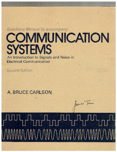 9780070099586: Communication systems: an introduction to signals and noise in electrical communication