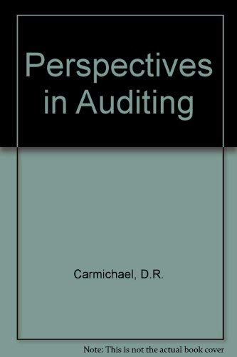 9780070099913: Perspectives in auditing