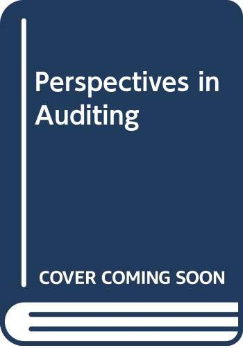 Perspectives in Auditing: Douglas R. Carmichael;